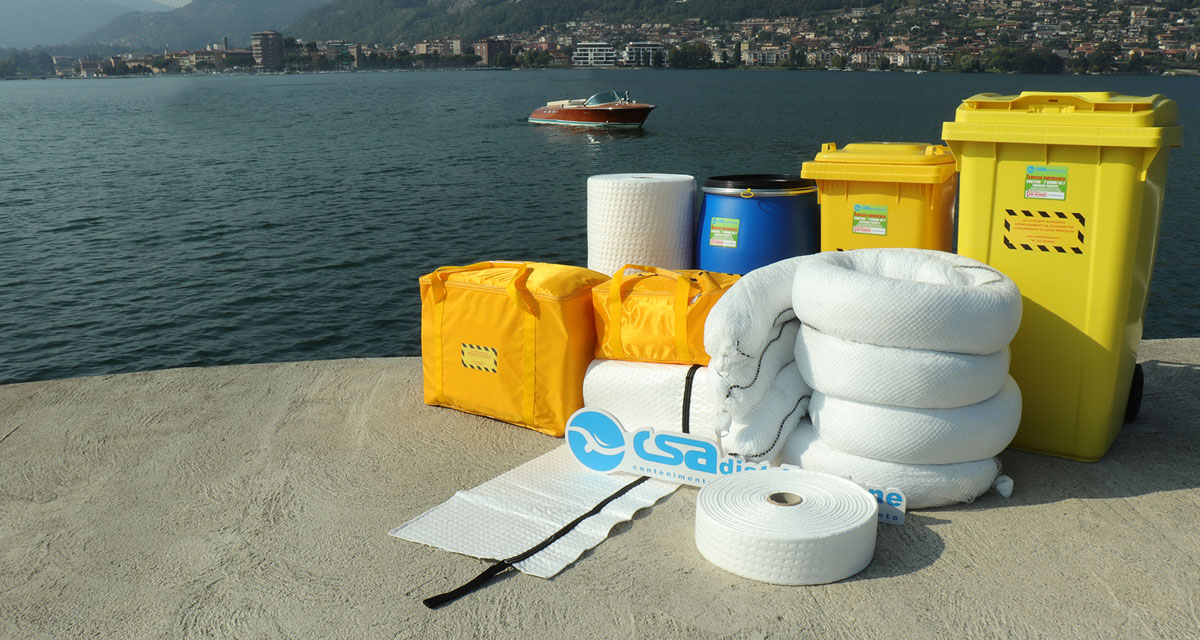 Kit per la Nautica Oleoassorbenti e Idrorepellenti