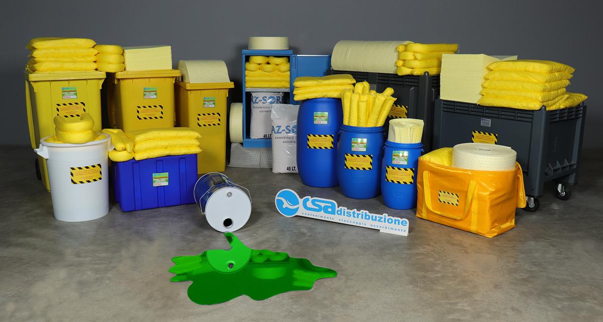 Kit pronto intervento antinquinamento per assorbire Agenti chimici